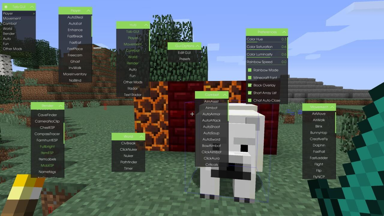 Minecraft Wolfram Hacked Client Download - WiZARDHAX.com